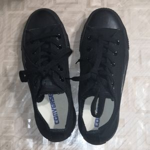 New Black Converse All Star low top sneakers